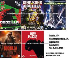 GODZILLA 5 MOVIE FILM COLLECTION DVD SHIN KING KONG OF MONSTER BRAND NEW UK R 2