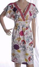 BE BEAU Colourful Flower Print V Cut Summer Dress Size 12 UK 40 EUR