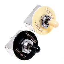 2 Pcs Chrome Box Knob Toggle 3 Way Pickup Selector Switch for GB Guitar Parts
