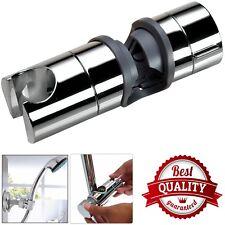 Universal Adjustable 18 to 25mm Chrome Shower Rail Head Slider Holder Bracket