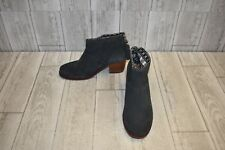TOMS Leila Suede Ankle Booties, Women's Size 6, Charcoal
