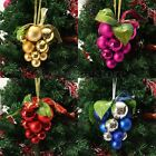 13Pcs Glitter Christmas Grape Balls Xmas Tree Ornaments Christmas Decorations AU