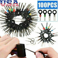 100PCS Pin Ejector Wire Kit Extractor Auto Terminal Removal Connector Tools US