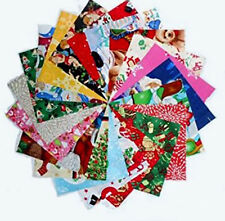 """5"""" Christmas MEDLEY Quilting Fabric Squares #2 Beautiful/80 !!"""