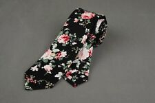 New Men's Cotton Flowers Tie Neck Tie Wedding Necktie Narrow Slim Skinny SK411