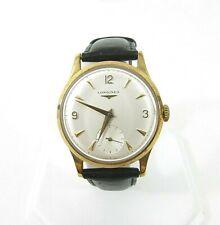 Mens Longines 9ct Yellow Gold Explorer Watch c1950