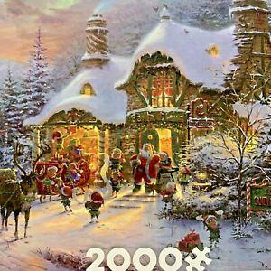 Ceacos Santas Night Before Christmas by Thomas Kinkade 2000 Piece Puzzle NEW