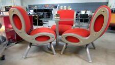 3 x Moroso Gluon Sessel Designklassiker Besucherstuhl Loungesessel orange dk0002