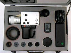Braun Nizo S 801 macro Trickkiste.super 8 Film Camera Schneider Look, Suitcase