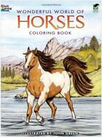 Wonderful World of Horses Adult Colouring Book Art Therapy Fast Post 0486444651