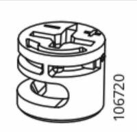 x IKEA # 118225 # 153646 WALL Metal brackets With Plastic Covers 2