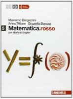 Matematica.rosso 5 con Maths in English, ZANICHELLI Bergamini, cod.9788808232113