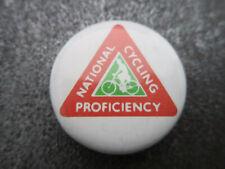 National Cycling Proficiency Pin Badge Button (L7B)