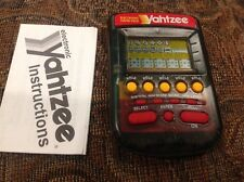 Yahtzee LCD hand held electronic MB Milton Bradley Classic game clear 1995