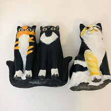 Dept 56 Hand Painted Cats By Martin Leman 3 Clover Charlotte Rena & Floy Aileen