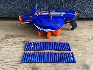 NERF N-STRIKE ELITE Blue Hail Fire Blaster Gun Toy With 8 Mags & 50 Ammo Darts