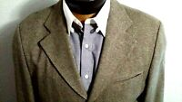 Lacoste Men's Wool Tan Brown Three Button Blazer Jacket Coat Sz 40R VTG 50 EUR