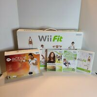 Nintendo Wii Fit Balance Board Fitness Game Bundle With Original Box Clean