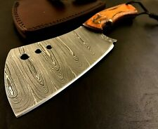 XL Handmade Damascus Steel Hatchet/ Axe-Leather Sheath-Lanyard