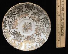 """Saucer Royal Vale Bone China Gold Floral Flower Leaf Vintage Made England 5 5/8"""""""