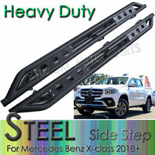 Black Steel Side Steps Running Boards suits Mercedes Benz X-class 2018+