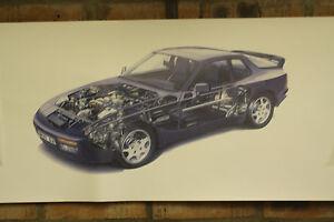 porsche 944s2 pvc large WORK SHOP BANNER garage car show banner