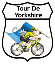 Tour De Yorkshire Dales car motorcycle Bicycle road cycling Race sticker Hawes