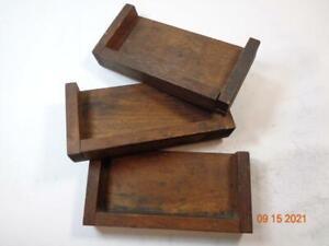 Printing Letterpress Printer Block Antique Small Wood Sorting Trays