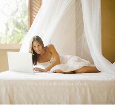 COTONE spiaggia stile Mosquito Net BED Canopy taglia unica letti 100% COTONE