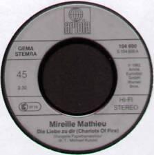 """MIREILLE MATHIEU ~ DIE LIEBE ZU DIR (CHARIOTS OF FIRE) ~ 1982 GERMAN 7"""" SINGLE"""