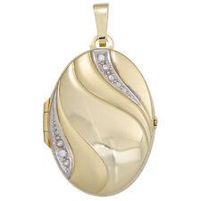Echtschmuck-Halsketten & -Anhänger im Medaillon-Stil aus Gelbgold für Damen