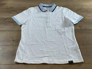 Skechers Pique Club Polo SS Shirt White Womens Size Small ( WTO6 ) NWT!!