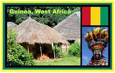 GUINEA, WEST AFRICA - SOUVENIR NOVELTY FRIDGE MAGNET - BRAND NEW - GIFT