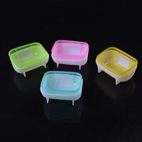 Pet Hamster Bathroom Bath Sand Room Sauna Toilet Cage Sand Baths Clear PlasticFO