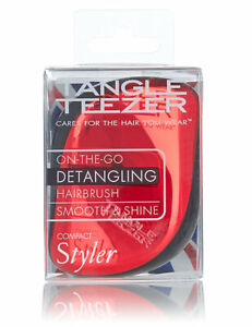 Tangle Teezer Compact Styler Red Chrome Detangling Hairbrush