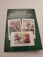 Dover Fine Art Sticker Books - Klimt, Nolde Flower Paintings