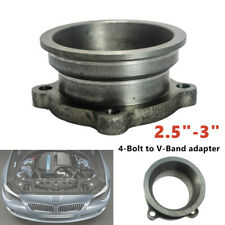 """2.5""""-3"""" Stainless Steel Car V-Band Turbo Downpipe 4 Bolt Exhaust Flange Adapter"""