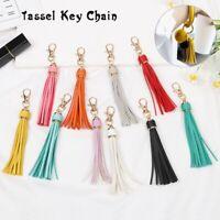 Women Cute New KeyChain Strap KeyRing PU Leather Tassels Tassel Key Chain