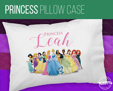 PERSONALIZED PRINCESS PILLOW CASE - Custom Name - Free Shipping