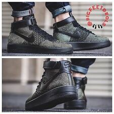 $200 NIKE Sz 14 Air Force One 1 Ultra Flyknit Mid Palm Green RT SF Jordan Camo