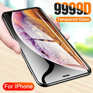 Full Coverage Cover Curved Tempered Glass Screen Protector for iPhone