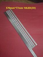 3PCS*10LEDs 32 Inch Universal LED Backlight Strip Optical Lens for TV monitor 3V