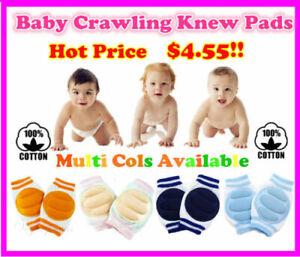 Hi-Quality Baby Infant Toddler Crawling Safety Knee Pads Blue Pink Orange