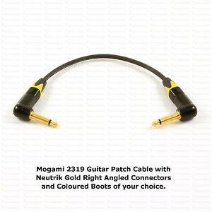 MOGAMI 2319 Effects Pedal Cable, NEUTRIK Gold Connectors, Choose Your Options.