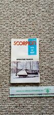 New ListingOriginal Vintage 1976 Scorpion Snowmobile Lil'Whip Operator Manual Chuck Connors