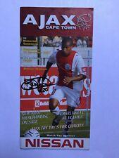 Autogramm BRYCE MOON-Ajax Cape Town-NS SÜDAFRIKA-Programmheft! Ex-Panathinaikos