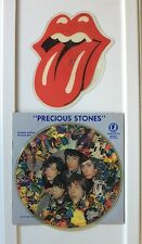 Rolling Stones Picture Disc Shaped Tongue She Was Hot & Precious Stones PRIORITY