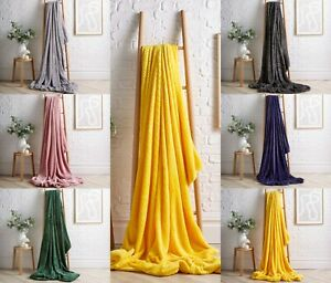 Fleece Blanket Large Sofa Throw Cloud Soft Warm Faux Fur Double & King Size