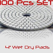 Diamond Polishing Pads 4 Inch 100 piece Set Wet Dry For Granite Concrete Marble