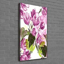 Leinwand-Bild Kunstdruck Hochformat 60x120 Bilder Violette Blumen